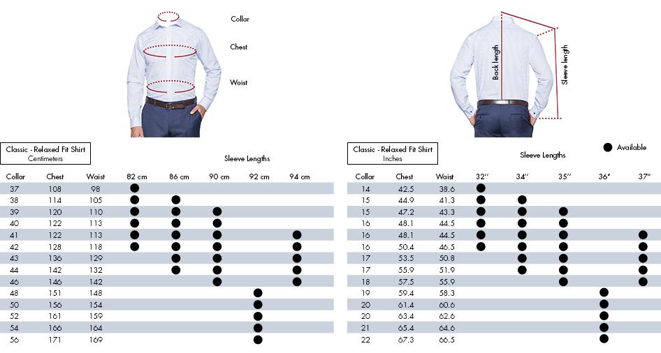 van sizes chart